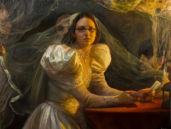 STEVEN ASSAEL  Bride with Cards Oil on canvas