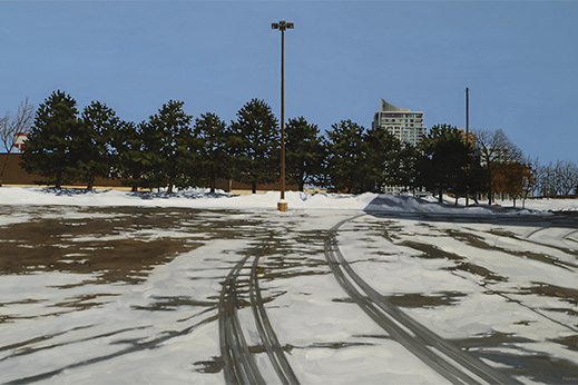 PETER D. HARRIS Urban Vista Oil on canvas